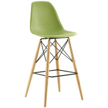Pyramid Bar Stool , Green, Plastic, Steel