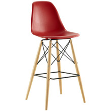 Pyramid Bar Stool , Red, Plastic, Steel