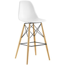 Pyramid Bar Stool , White, Plastic, Steel