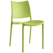 Hipster Dining Side Chair (Indoor and Outdoor), Green, Plastic