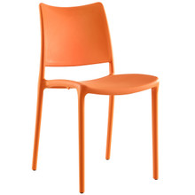 Hipster Dining Side Chair (Indoor and Outdoor), Orange, Plastic