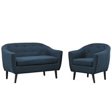 Wit Two PCS Living Room Set, Navy, Fabric