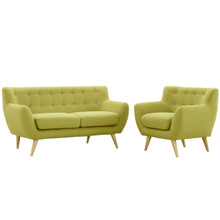 Remark Two PCS Living Room Set, Green, Fabric, Plywood