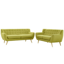 Remark Two PCS Living Room Set, Green, Fabric, Plywood 1785