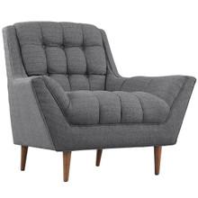 Response Fabric Armchair , Grey, Fabric