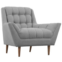 Response Fabric Armchair , Fabric, Grey
