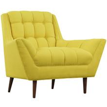 Response Fabric Armchair , Yellow, Fabric
