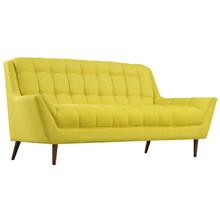 Response Fabric Loveseat , Yellow, Fabric