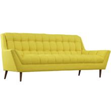 Response Fabric Sofa , Yellow, Fabric