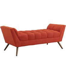 Response Medium Fabric Bench, Red, Fabric