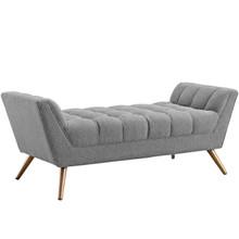 Response Medium Fabric Bench, Fabric, Grey