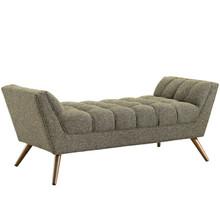 Response Medium Fabric Bench, Beige, Fabric