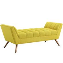Response Medium Fabric Bench, Yellow, Fabric
