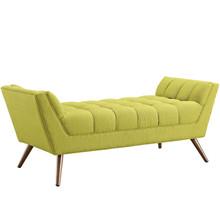 Response Medium Fabric Bench, Green, Fabric