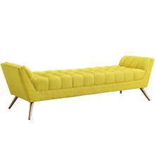 Response Fabric Bench , Yellow, Fabric