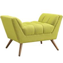Response Fabric Ottoman , Green, Fabric