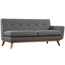Engage Right-Arm Loveseat , Grey, Fabric