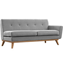 Engage Right-Arm Loveseat , Fabric, Grey