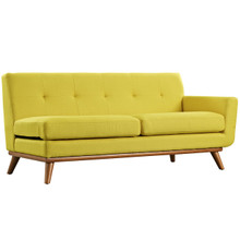 Engage Right-Arm Loveseat , Yellow, Fabric