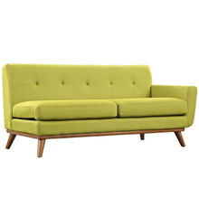 Engage Right-Arm Loveseat , Green, Fabric