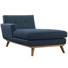 Engage Left-Arm Chaise , Navy, Fabric