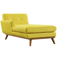 Engage Left-Arm Chaise , Yellow, Fabric