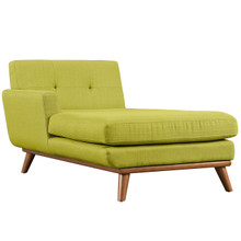Engage Left-Arm Chaise , Green, Fabric