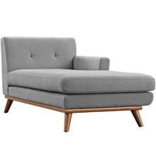 Engage Right-Arm Chaise , Fabric, Grey