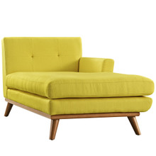 Engage Right-Arm Chaise , Yellow, Fabric