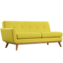 Engage Left-Arm Loveseat , Yellow, Fabric