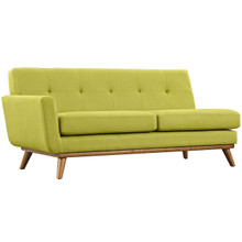 Engage Left-Arm Loveseat , Green, Fabric