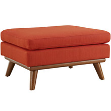 Engage Fabric Ottoman , Red, Fabric