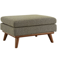 Engage Fabric Ottoman , Beige, Fabric