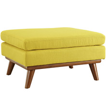 Engage Fabric Ottoman , Yellow, Fabric