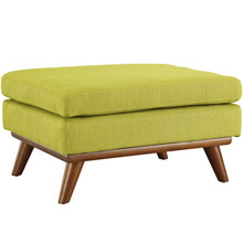 Engage Fabric Ottoman , Green, Fabric
