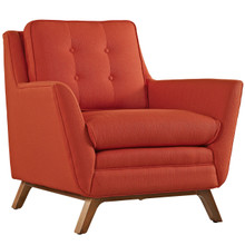 Beguile Fabric Armchair , Red, Fabric
