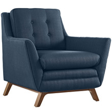 Beguile Fabric Armchair , Navy, Fabric