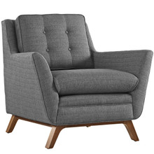 Beguile Fabric Armchair , Grey, Fabric