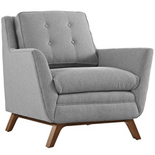 Beguile Fabric Armchair , Fabric, Grey