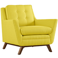 Beguile Fabric Armchair , Yellow, Fabric
