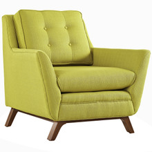 Beguile Fabric Armchair , Green, Fabric