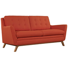 Beguile Fabric Loveseat , Red, Fabric