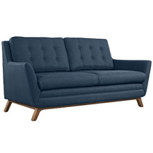 Beguile Fabric Loveseat , Navy, Fabric