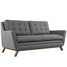 Beguile Fabric Loveseat , Grey, Fabric