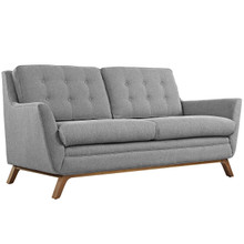 Beguile Fabric Loveseat , Fabric, Grey