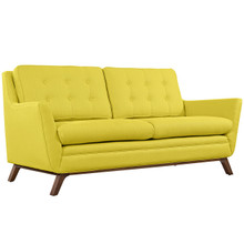 Beguile Fabric Loveseat , Yellow, Fabric
