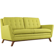 Beguile Fabric Loveseat , Green, Fabric