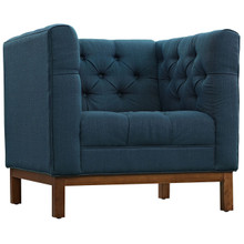 Panache Fabric Armchair , Navy, Fabric