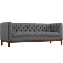 Panache Fabric Sofa , Grey, Fabric