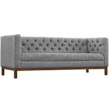 Panache Fabric Sofa , Fabric, Grey